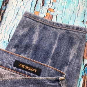 Lucky Brand Jeans - Lucky Brand Zoe Skinny Acid Wash Cropped Zipper